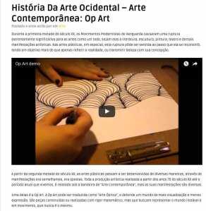 História Da Arte Ocidental – Arte Contemporânea: Op Art